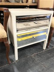 Sale 8822 - Lot 1873 - Mirrored Front Bedside