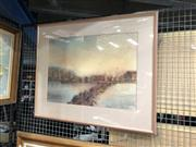 Sale 8853 - Lot 2096 - Eileen Pee - Cityscape at Duskpastel, signed lower