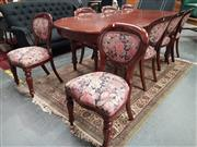 Sale 8863 - Lot 1036 - Mahogany Nine Piece Dining Setting incl. Table & Eight Balloon Back Chairs