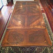 Sale 8878T - Lot 14 - French Marquetry Extension Dining Table, with two extension leaves, when extended seating 8 persons comfortably, Dimensions - 99cm w...