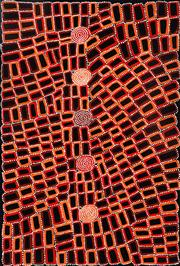 Sale 8998A - Lot 5069 - Walala Tjapaltjarri (1960 - ) - Tingari 148 x 100 cm (stretched and ready to hang)
