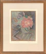 Sale 9058 - Lot 2080 - Margaret Lees;  Gum Blossom; Screenprint, ed. 1/10, frame: 48 x 41 cm; signed lower right.
