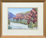 Sale 8297 - Lot 511 - Adolf Inkamala (1914 - 1960) - Central Australian Landscape 24.5 x 34cm