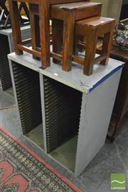 Sale 8390 - Lot 1296 - Vintage Metal Record Cabinet