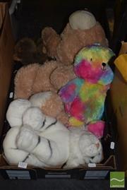 Sale 8509 - Lot 2207 - Tiger, 2 Bears & a Wombat (Soft Toys)