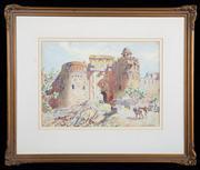 Sale 8590A - Lot 48 - Lionel Lindsay - Sher Sha Gate, New Delhi 38 x 50cm