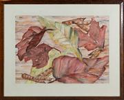 Sale 8595A - Lot 62 - Elizabeth Wadsworth - Autumn Leaves 52 x 70cm