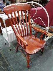 Sale 8714 - Lot 1080 - Victorian Provincial Armchair, with slatted back & turned legs
