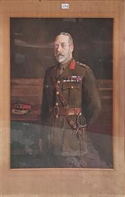 Sale 8868 - Lot 1117A - King George V Lithograph Print in Gilt Gesso Frame