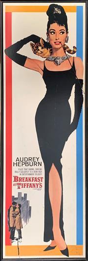 Sale 8936 - Lot 2062 - Breakfast At Tiffanys Poster, 92.5 x 31cm