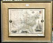 Sale 8941 - Lot 2047 - An Antique hand-coloured Map of the Untited States published by John Tallis & Company 1856