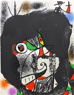 Sale 9108A - Lot 5018 - Joan Miro (1893 - 1983) - End of Illusion I 37 x 26 cm (sheet)