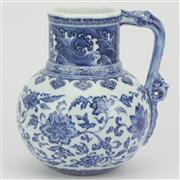 Sale 8342 - Lot 71 - Long Shoubing Blue & White Jug