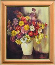 Sale 8408 - Lot 585 - Hilda Townsend (1907 - 1988) - Flower Study 50.5 x 40cm