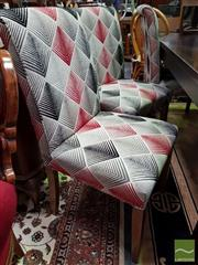 Sale 8480 - Lot 1032 - Set of Eight Modern Upholstered Dining Chairs