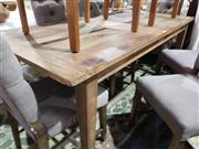 Sale 8760 - Lot 1095 - Recycled Elm Rustic Finish Dining Table (L: 180cm)