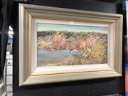 Sale 8903 - Lot 2093 - Artist Unknown - Yabbying, oil on board, 50 x 77cm (frame), signed lower right