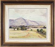 Sale 9041 - Lot 2094 - Robert Wilson (1942 - ) - Kangaroo Valley Pastures, 1971 29.5 x 37 cm (frame: 47 x 55 x 3 cm)