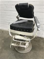 Sale 9071 - Lot 1042 - Vintage Barbers Chair, faults (h:105 x w:52 x d:45cm)