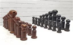 Sale 9117 - Lot 1068A - Ceramic chess set by Robin Welch