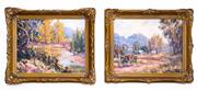 Sale 8368A - Lot 76 - A pair of R. Parsons artworks - Valley View I & Valley View II each 19 x 24 cm