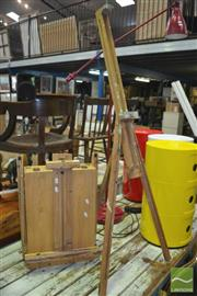 Sale 8431 - Lot 1042 - Artist Travelling Easel and Easel