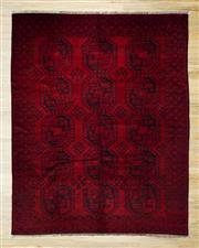 Sale 8566C - Lot 33 - Antique Afghan Turkman 270cm x 200cm