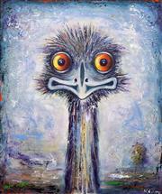 Sale 8652A - Lot 5052 - Nigel Gillings - Outback Emu 61 x 51cm