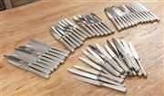 Sale 8904H - Lot 72 - An assortment of butter and steak knives