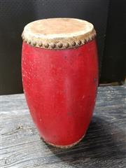 Sale 8962 - Lot 1004 - Decorative Double Ended Drum (H:32 x D:18.5cm)