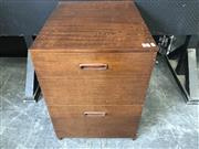 Sale 9026 - Lot 1054 - Timber Chest of Two Deep Drawers (H:70 x W:49 x D:61cm)