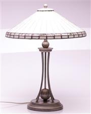Sale 9081 - Lot 56 - Bretnall Leadlight Table Lamp (H:61cm)