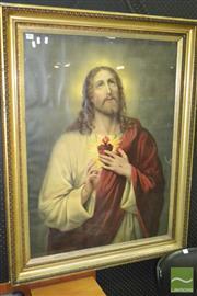 Sale 8287 - Lot 1005 - Large Vintage Framed Religious Print