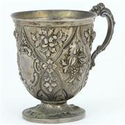 Sale 8372 - Lot 55 - English Hallmarked Sterling Silver Victorian Christening Mug