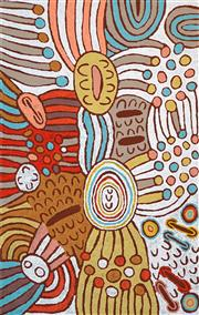 Sale 8415 - Lot 541 - Marlene Young Nungurrayi (1973 - ) - Minyma Tjukurrpa 152 x 96cm