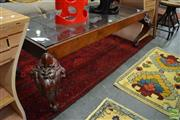 Sale 8480 - Lot 1188 - Glass Top Coffee Table with Ornate Legs