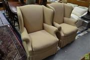 Sale 8515 - Lot 1070 - Pair of Drexel Wingback Armchairs - H 105 x W 85 x D 90cm (063169)