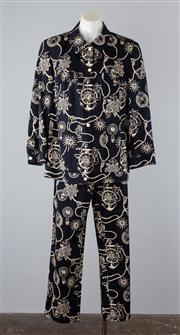 Sale 8685F - Lot 29 - A Basler printed cotton-blend jacket with matching pants, both size GB 20 (brand new, with tags)