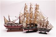 Sale 9023O - Lot 506 - A group of four model ships (Tallest H44cm, Smallest H24cm)
