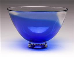 Sale 9114 - Lot 62 - Art glass footed bowl - marked James McMurtrie 97
