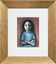 Sale 8459 - Lot 556 - Robert Dickerson (1924 - 2015) - Crossed Hands 37 x 27cm