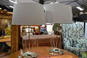 Sale 8469 - Lot 1042 - Pair of Modern Perspex table Lamps