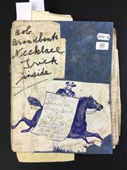Sale 8539M - Lot 88 - Keith Absons Magic Scrapbook, book no. 11. Includes Bob Broadbents Necklace Trick and other clippings annotated by Abson