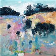 Sale 8606 - Lot 513 - Cheryl Cusick - Elusive Landscape 100 x 100cm