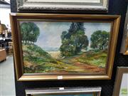 Sale 8613 - Lot 2073 - Eve Rudd & Rona Earl - Rural Landscape, Oil, signed 30x50cm -