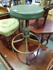 Sale 8657 - Lot 1068 - Machinist Swivel Top Stool