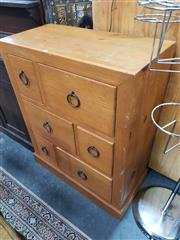 Sale 8676 - Lot 1082 - Timber Chest of Six Drawers