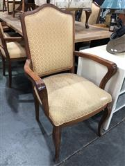 Sale 8822 - Lot 1876 - Set of 7 Dining Chairs inc 2 Carvers