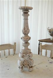 Sale 8858H - Lot 31 - Large Ornamental Candle Stick of Concrete Composite, H 72 x W 20 cm -