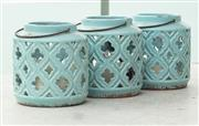 Sale 8904H - Lot 74 - Three turquoise hanging lanterns